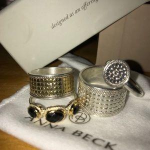 Anna Beck Triple Hypersthene Stone Ring